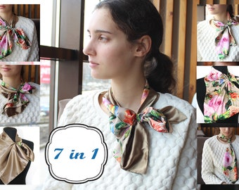 New French Scarf, Silk, Scarf Style, French Girl, Neckerchief, Classy Look, Fashion Accessory, Ascot, Men, Women, Cravat, Bow tie, Shal