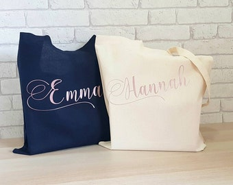 9b20d8c56e Personalised Tote Bag~Canvas Tote Bag~Bags for Women~Wedding Party  Gift~Bridesmaid Gift~Holiday Bag~Beach Bag~Cotton Shopper~Personalized