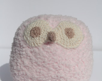 Knitted Pink Owl