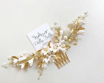 Bridal floral Hair comb #dbg182