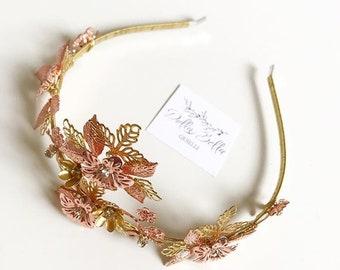 Rose Gold Bridal Tiara #dbg635