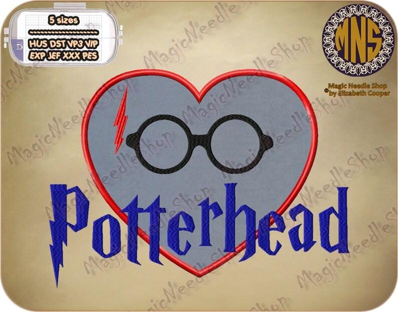 Harry potter potterhead applique embroidery design harry etsy