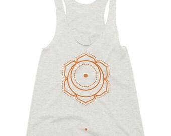 Yoga tank top womens tank top chakra tank sacral chakra clothing second chakra clothes spiritual clothing ladies printed t shirt chakras