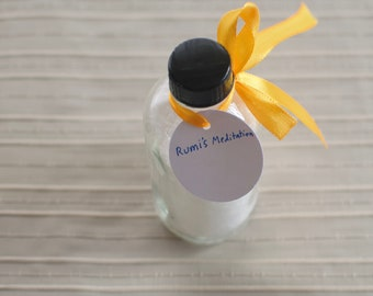 Rumi's Meditation: Delightful fizzy Epsom salt essential oil bath-bath salts in jar-bath soak-spa gift-4oz-Sugar Dreamer