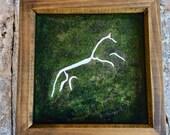 White Horse Shadow Box Di...