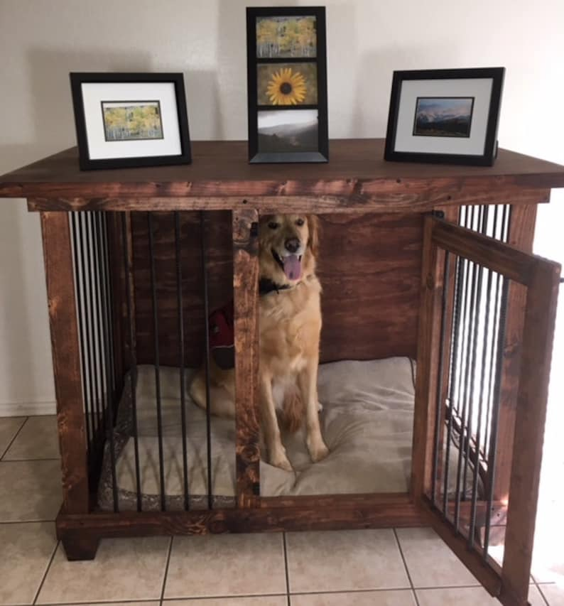 Sgl Lg Dog Kennel Furniture Dog Crate Dog Bed Large Dog Etsy