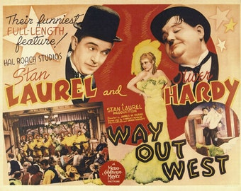 LAUREL /& HARDY SIGNED PHOTO PRINT POSTER AUTOGRAPH POSTER THE BIG NOISE