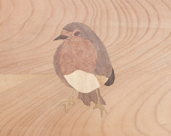 Veneer panel Red Chest Bird