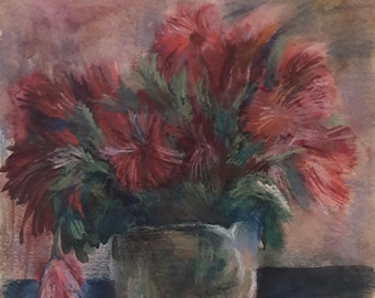 Original Watercolor Painting, Flowers, One of a Kind