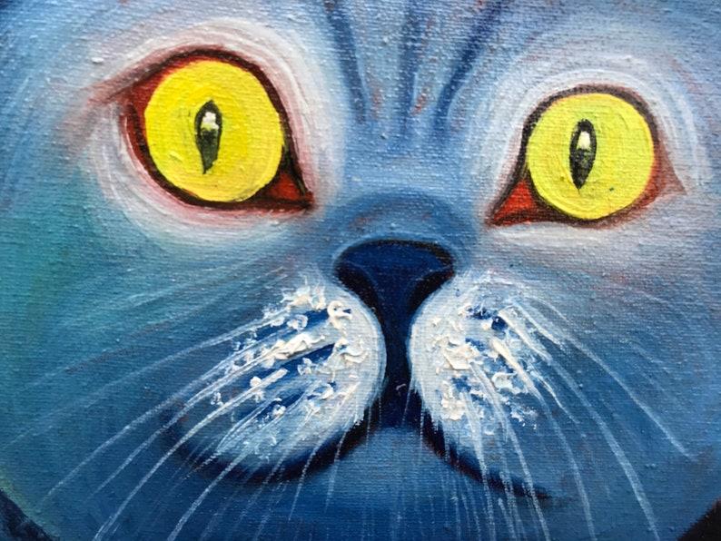 Cat One of a kind Animal Hunter European Fine Art Contemporary Original oil painting