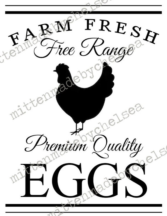 Farm Fresh Eggs Svg Dxf Pdf Digital Cut File Etsy