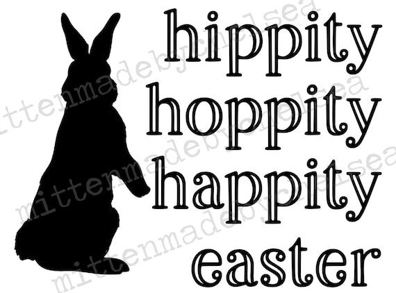 Hippity Hoppity Happity Easter Svg Dxf Pdf Digital Cut File Etsy