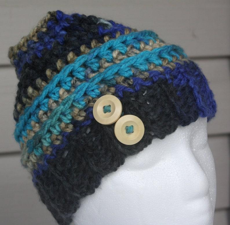 messy bun hat ponytail hat teen ponytail hat Small Crochet Messy Bun Hat GirlsTeen messy bun hat crochet hat crochet beanie