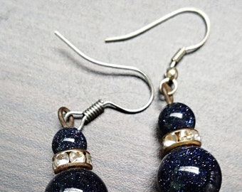 Midnight with Diamond Accent Earrings
