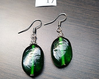 Green Bead Earrings