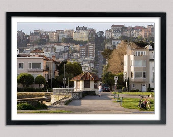 Morning along The Marina Green - Archival Print with semi-gloss fine pebble surface finish - 6x9, 8x12, 12x18, 16x24, 20x30, 24x36