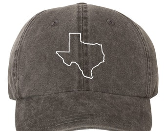 32ac5b968d9 Texas Outline Embroidered Dad Hat