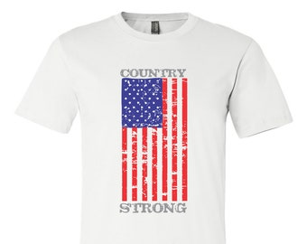 Country Strong USA Shirt, Country Music Festival, Country Concert Shirt, Country Music Shirt, Southern Shirt - White