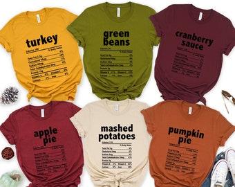 Nutrition Thanksgiving Food Shirts, Funny Thanksgiving Shirts, Funny Christmas Shirts, Thanksgiving Food Shirt, Holiday Family Group Shirts