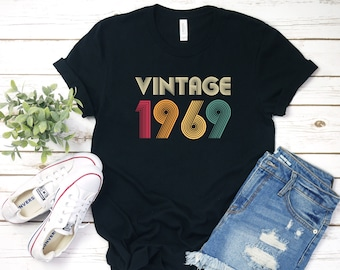 9a22de038 50th Birthday Gift Vintage 1969 Shirt, 50th B-Day Tee, 50th Gift, Funny  50th Birthday, Funny 50th Birthday Shirt, Gift For 50th, More Colors