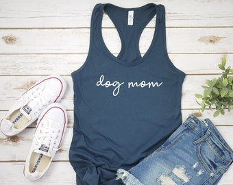 e0fa7a15247 Dog Mom Script women s racerback tank top shirt