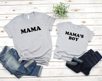 86b9f8afde Mommy And Me Outfits Shirts, Mama, Mamas Boy, Mommy And Son Matching  Shirts, Gift For Her, Mother's Day Gift, Boy Mama, Mom of Boys