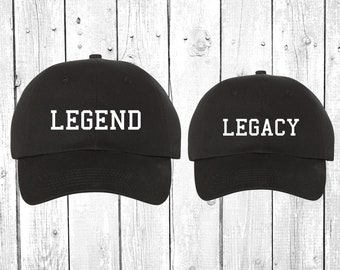 Legend + Legacy Matching Father and Son Baseball Dad Hats ac72cfa6f2b