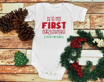 6a2dd9a9b My First Christmas, Baby Infant Bodysuit, Baby Bodysuit, Christmas  Bodysuit, Holiday Baby Bodysuit, Unisex Baby Clothes