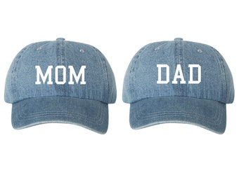f49699b9ebb Mom   Dad Denim Dad Hat Cap