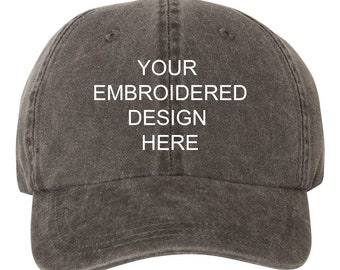 6a14312d804 Wholesale Bulk Your Custom Text Design EMBROIDERED Dad Hat Cap