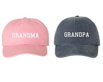 Grandma   Grandpa EMBROIDERED Unstructured Dad Hat Cap d2b811756b23
