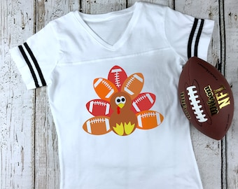 7465ee03d02 Football Turkey Women s Football V-Neck Fine Jersey Tee
