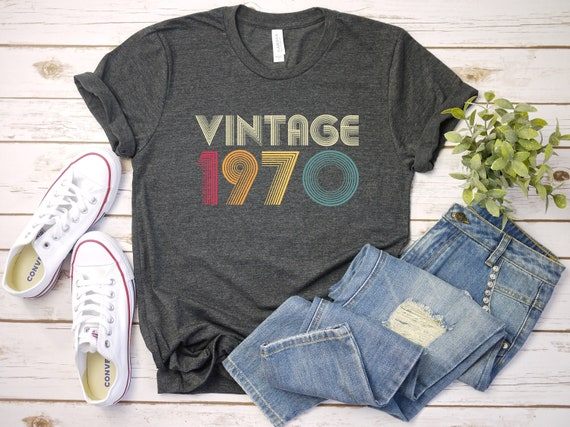 50th Birthday Gift Vintage 1970 Retro Colors Shirt, 50th B-Day Tee, Funny 50th Birthday, Funny 50th Birthday Shirt, Gift For 50th