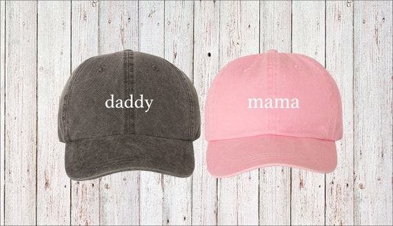 50b1ea8545e Mama   Daddy Lowercase Dad Hat Cap Pigment Dyed Unstructured