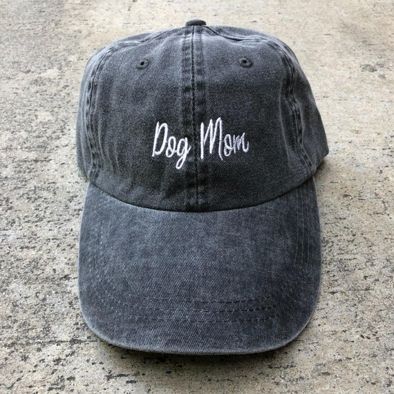 fc0ebef338b Dog Mom Embroidered Dad Hat Pigment Dyed Unstructured Dog Dad