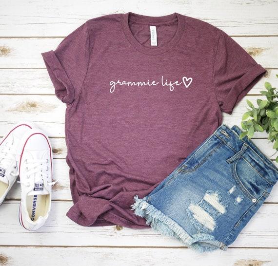 Grammie Life Script Shirt, Grammie T-Shirt, Grandma Tee, Grandma Shirt,  Mothers Day Gift, Grandma, Gift For Grandma More Colors!