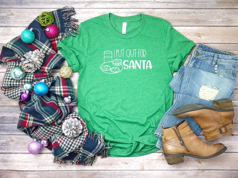 3f9cf1c68 I Put Out For Santa Funny Christmas Shirt Christmas Day | Etsy