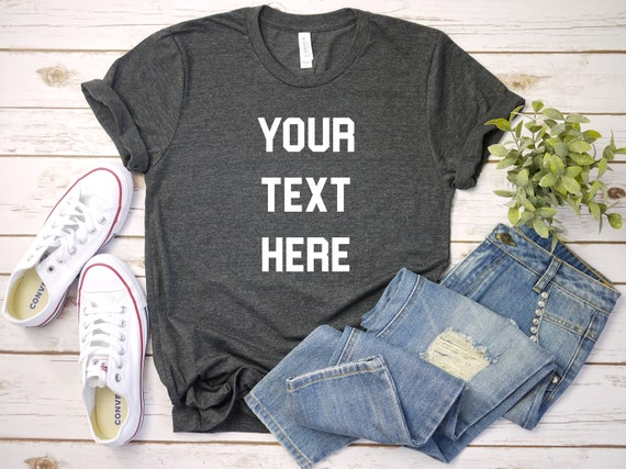 Your Custom Text Here Shirt, Custom shirts, Custom Sports shirts, Custom shirts, Unisex Shirt, Gift For Her, Choose Your Shirt Color!