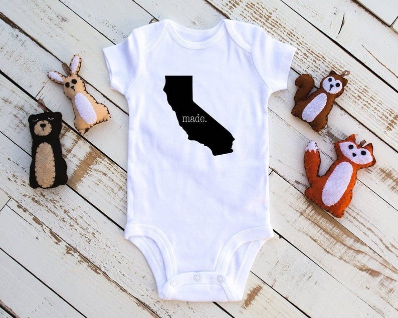 California Baby Unisex Baby Clothes California Made Made In California Bodysuit Baby Infant Bodysuit Baby Shower Gift Baby Bodysuit