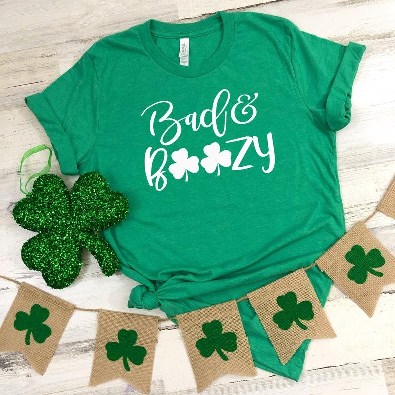 c27316971 St Patrick's Day Shirt Bad And Boozy Funny St | Etsy