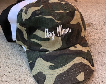 Dog Mom Embroidered Dad Hat Cap, Fur Mama, Dog Lovers, Dog Mama, Unstructured Baseball Cap, Choose Your Hat Color! Choose Any Color Thread!
