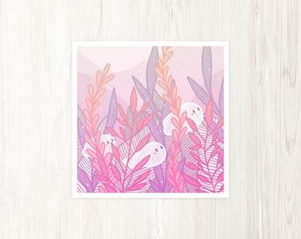 Garden Ghosts - Shy Plant Spirits Art Print