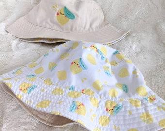 Lemon Baby Reversible Bucket Hat