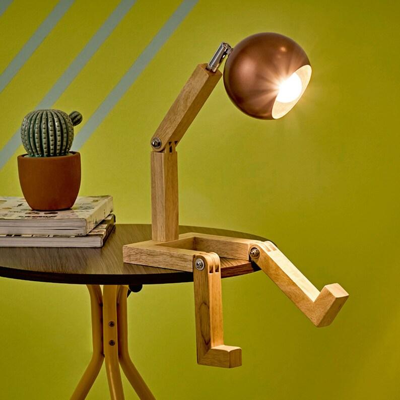 reading lamp desk lamp Wooden lamp lamp shade edison lamp wooden desk lamp bedside lamp wood lamp table lamp