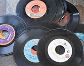 Random Lot Of 7 quot Vintage Vinyl Records For Craft No sleeves (lot of 50)