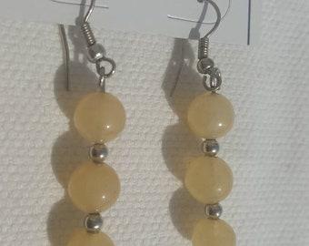 Earrings in semi precious stones