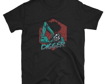 60a2765d Engineering Vehicle Mechanic Machinery Vintage Digging Excavator Digging  Gift Short-Sleeve Unisex T-Shirt