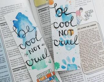 Custom (Single) Watercolor Bookmark