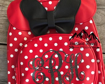 FAST SHIPPING Disney Minnie Mouse Girls Backpack Childs Size Poka Dot Bag Disney  Backpack Girls Disney Gift