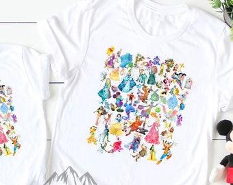 d9ec17c95 In Stock FAST SHIPPING Mom Life Disney Watercolor Character Shirt Disney Parks  Shirt Disney Shirt Mom Shirt lightweight Unisex TShirt